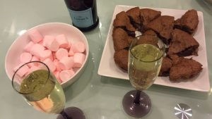 Disclaimer: I did attend a Valentine's Day part. Prosecco, chocolate and pink abounded.