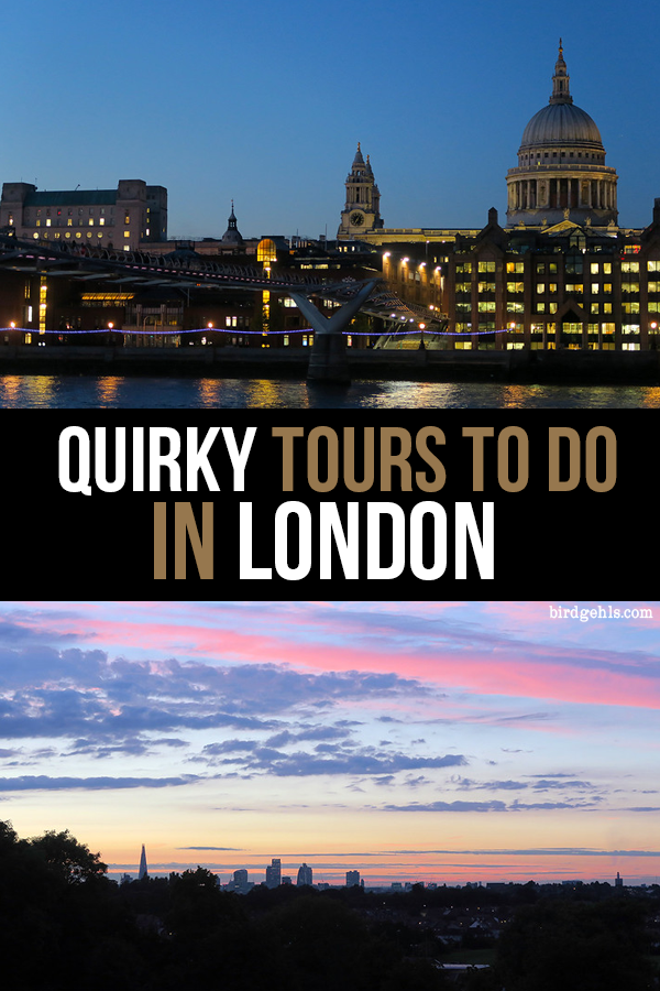 Think you've seen all that London has to offer? Think again. Here are 13 offbeat tours you can do in the English capital. / Things to do in #London /