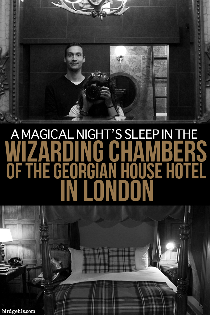 This what it's like to stay within the Wizarding Chambers in the Georgian House Hotel in London. Plus, a few other Potter-related activities you can indulge in during your time in the UK's capital. #London #England #HarryPotter