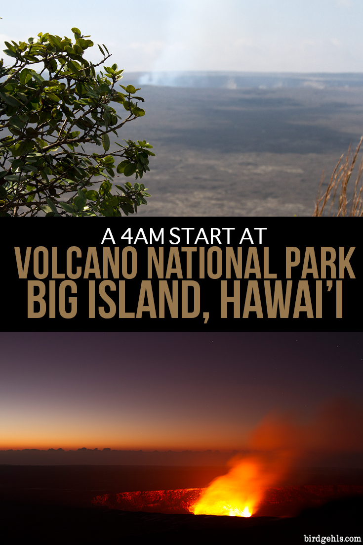 The volcano #Kīlauea on the Big Island of Hawai'i has been erupting continuously since 1983. This is what it's like to get up, drive to Volcano National Park from Hilo and see the active volcano in the early hours of the morning. #BigIsland #Hawaii