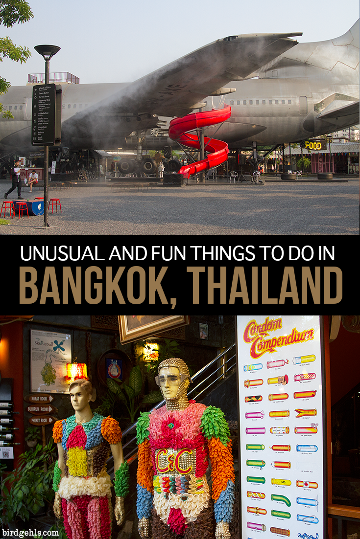 You can explore the usual tourist sites of a city, or you can get off the beaten path. Here are a few unusual and fun things to do in #Bangkok, like enjoying a tasty meal of insects, visiting a weird and spooky museum and exploring an airplane graveyard. / #Thailand / #TravelTips /  Spooky Travel / Dark Tourism /