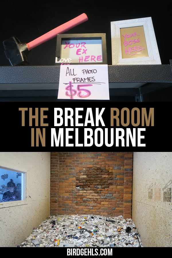 When you visit The Break Room in #Melbourne you're given protective gear and a baseball bat and are put in a room where you can smash breakables for up to twenty minutes to music of your choice. It's just a little bit fun and certainly a very unique thing to do in Melbourne either solo, as a couple, or in a group. As an added bonus, it's sustainable, too.